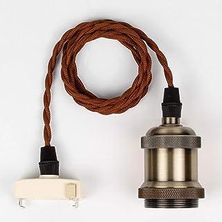 レトロペンダントライト 引掛シーリング用 真鍮 電球 E26 led対応 ソケット ペンダントライト 1灯式 電球別売り …