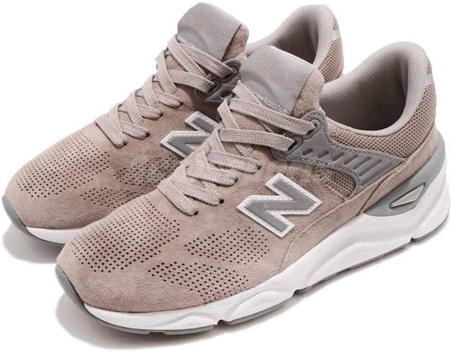 New Balance Womens Lifestyle X-90 Fabric Low Top Lace Up Walking shoes