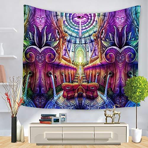 Tapiz de dragón colorido tapiz psicodélico decoración boho mandala colgante de pared tapiz hippie tela de fondo a5 150x200cm