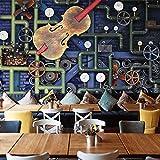 3D Wandbild Retro industrieller Wind steampunk Gang 450x300 cm (WxH) 9 stripes Poster Tapete Wanddekoration Foto Poster Bild Wandtattoos Wandbilder Wohnkultur Selbstklebend Hintergrundbild...
