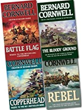 Bernard Cornwell Starbuck Chronicles Collection 4 Books Bundle (Copperhead, Battle Flag, Rebel, The Bloody Ground)