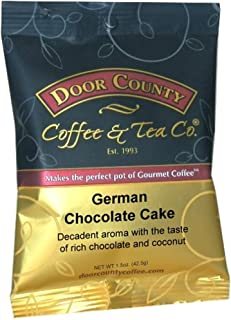 Door County Coffee, German Chocolate Cake, Ground, 1.5oz Full-Pot Bag