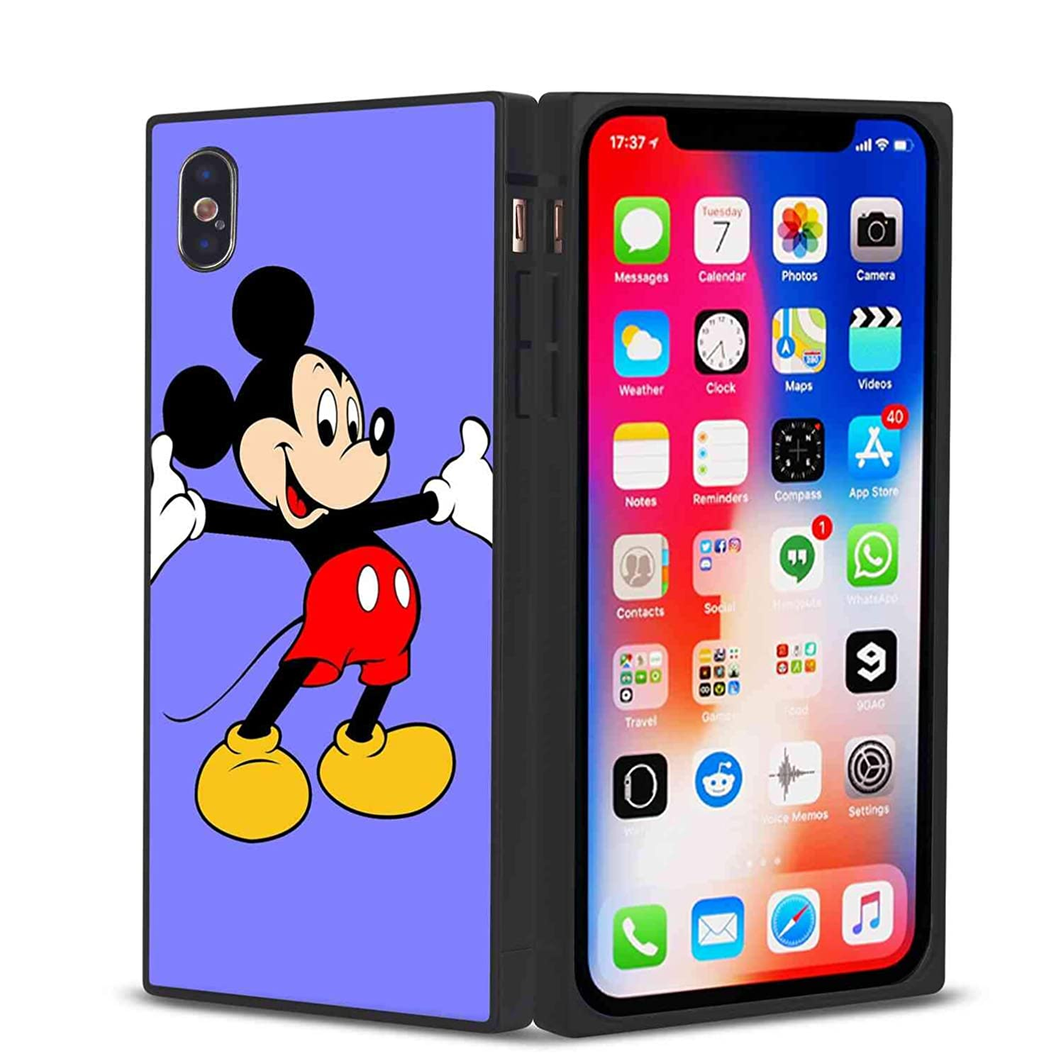 DISNEY COLLECTION Compatible with iPhone Xs and iPhone 10 and iPhone X 5.8 Version Cartoon Character Film Logo Mickey Mouse Star Tv