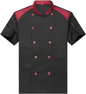 Fashion Chef Jackets Waiter Coat Short Sleeves Many Colors