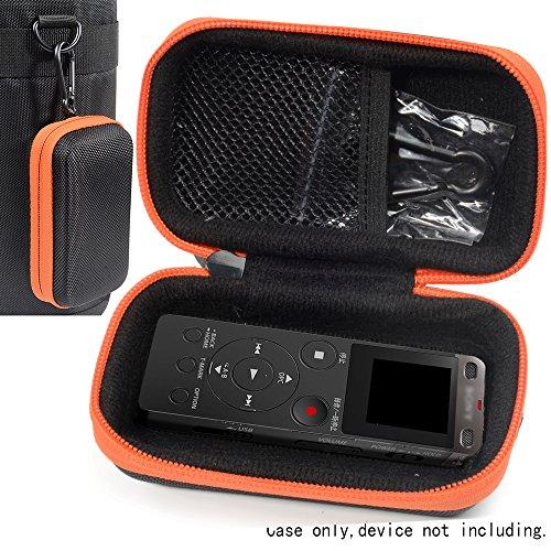 Digital Voice Recorder Case for Sony ICDUX560BLK, Yemenren Voice Recorder, Yemenren 8GB, eBoTrade Digital Voice Recorder, Dennov 8GB, TOOBOM R75, Evistr 8GB Digital Audio Sound Recorder, Black+ Orange