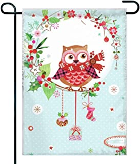 Amuseds Double Sided Unique Premium Garden Flag,on owl Wallpaper Decorative Garden Flags - Weather Resistant & Double Stitched - 18 x 12 Inch