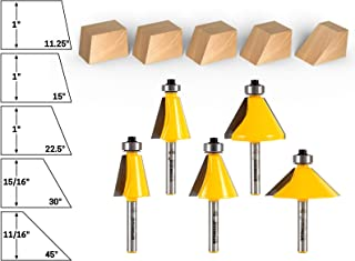Best 75 degree chamfer router bit Reviews