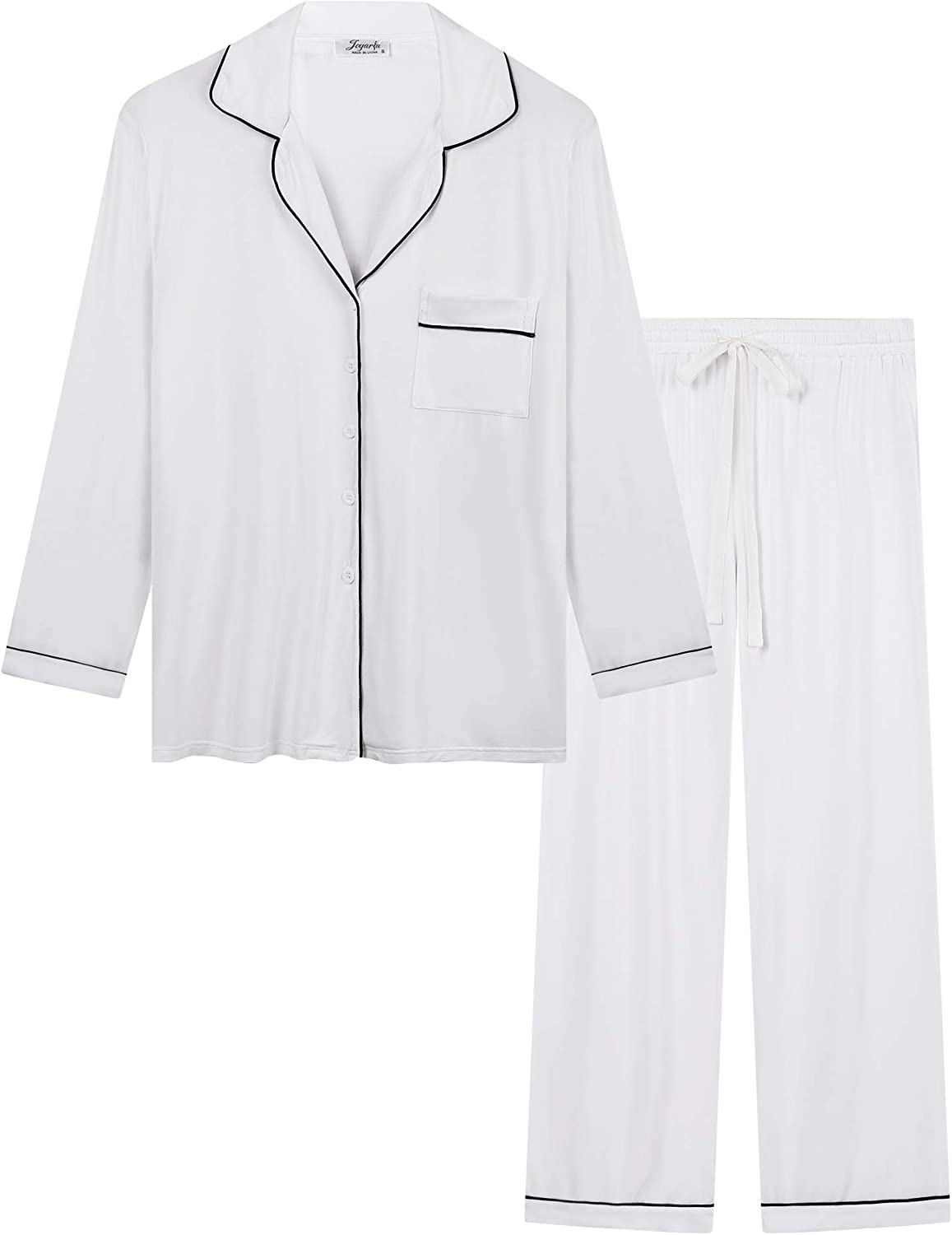 Women's Ultra Soft Pajama Pj Sets Cash special price - Button Down Sleeve Directly managed store Long