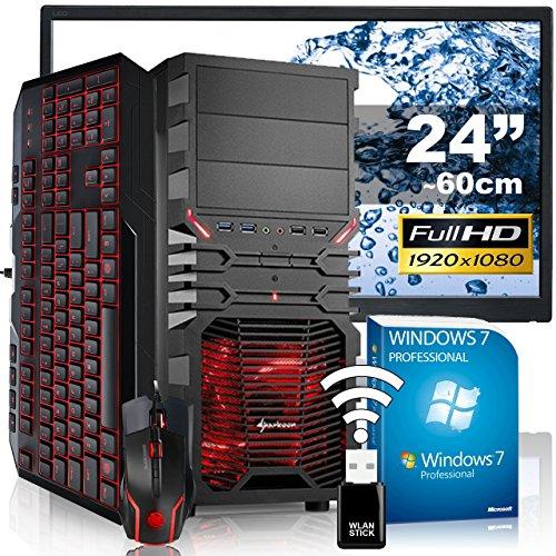 AGANDO Silent Gaming PC-Komplettpaket | AMD FX-6300 6x 3.5GHz | GeForce GTX750 Ti 2GB | 4GB RAM | 1000GB HDD | DVD-RW | USB3.0 | 60cm (24