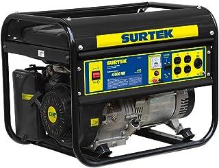 Surtek Gg550 Surtek Generador a Gasolina de 5000 W, con Receptáculos de Voltaje CA de 120 V y 240 V, Cilindrada de 389 CC,...