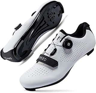 Cycling Shoes for Men Women Luminous Road Cycling Riding Shoes Peloton Shoes Breathable Cleat Compatible SPD Look Delta In...