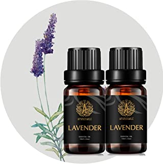 Aromatherapy Essential Oils Set, 100% Pure & Therapeutic Grade Lavender Essential Oils Scent Kit for Diffuser, Humidifier, Massage, 2 * 10ml Lavender Aromatherapy Essential Oils Fragrance Oils Sets