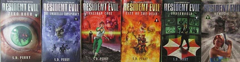 Author S.D. Perry Six Book Set Bundle Collection Of The Resident Evil Series, Includes: Book #0 - #5