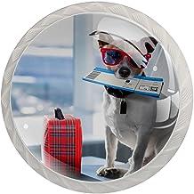 Lade handgrepen trekken ronde kristallen glazen kast knoppen keuken kast handvat,Hond in luchthaven