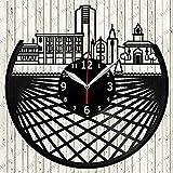 Hamilton Skyline Vinilo Record Retro Reloj de Pared Regalo Único Año Nuevo Navidad Regalo de Cumpleaños Personalidad creativa hogar diseño decoración de pared