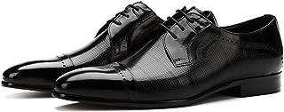 Enjoy4Beauty - Zapatos de vestir para hombre de negocios, estilo casual, puntiagudo, británico, color negro, talla: 46