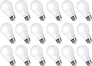 Hyperikon LED Light Bulbs A19 60 Watt Equivalent LED Bulbs, 9W, 4000K Daylight, Non-Dimmable, UL, 18 Pack