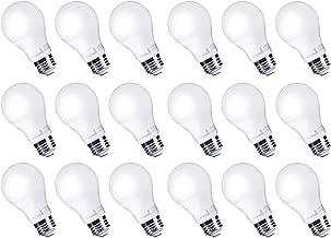 Hyperikon LED Light Bulbs A19 60 Watt Equivalent LED Bulbs, 9W, 3000K Soft White, Non-Dimmable, UL, 18 Pack