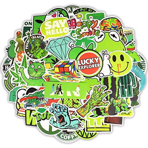 greestick Stickerbomb grün Aufkleber 50 Stück Sticker