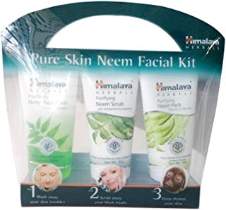 Himalaya Pure Skin Neem Facial Kit (Facewash 50ml, Scrub 50g & Face Pack 50g)