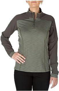 5.11 Tactical Women's Rapid Half Zip Sweatshirt, Polyester/Spandex, Moisture Wicking, Style 62381
