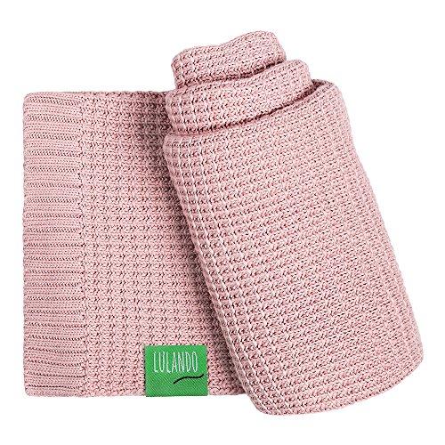 LULANDO Bambusdecke 80x100 cm, kleine Bettdecke, Zudecke für Kinderwagen, für jede Jahreszeit, 100 % naturreine Materialien, aus Baumwolle und Bambus, antiallergisch, umweltfreundlich (Pink)