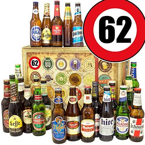 62. Geburtstag Geschenk Freund - Biergeschenk - Geschenkset - Bier - Weihnacht Kalender Bier