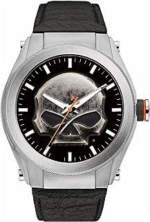 Harley-Davidson Men's Willie G Skull Medallion Stainless Steel Watch