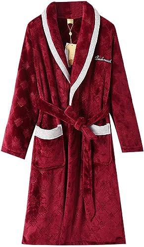 Zcx Chemise De Nuit Pour Hommes Couleur Unie Pyjama Long Peignoir Robe Super Douce Maison Robe De Chambre Et Kimono
