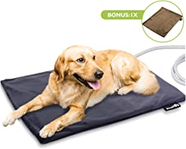Pecute Pet Heating Pad Low Voltage Safe Electric Heating Pet Mat for Dogs and Cats Warming Mat with Chew Resistant Cord and Waterproof Layer (2 Covers)