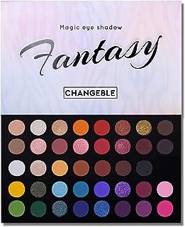 40 Colors High Pigmented Shimmer Matte Eyeshadow Makeup Palette Full Spectrum Artist Glitter Metallic Waterproof Creamy Blendable Eye Shadow Cosmetics (Color 1)