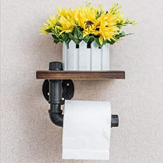 Asenart Iron Pipe Rack Pipe Shelf, Rustic Toilet Paper Holder, Floating Shelves, Plumbing Pipe Brackets, Vintage Iron Pipe...