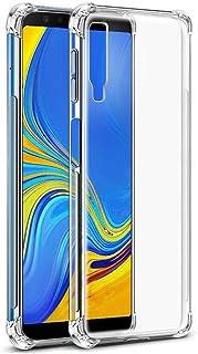غطاء شفاف مقوى بزوايا مضادة للصدمات يناسب هاتف سامسونج جالاكسي A7 2018 / A9 2018 (A7(2018))