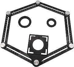Régua de medição de vários ângulos de alumínio dobrável com parafusos de metal para ferramenta profissional de piso de mad...