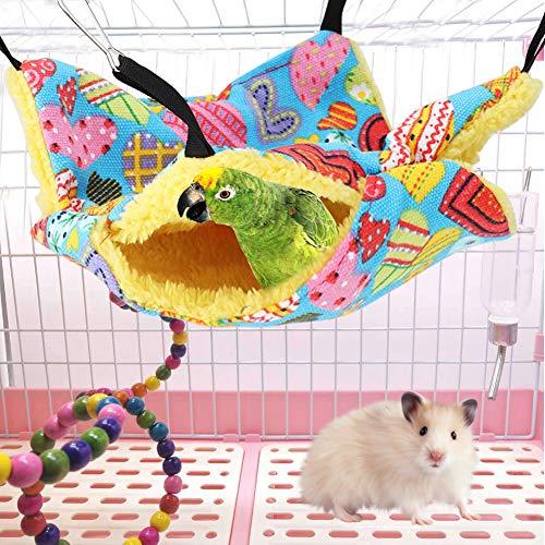 Taidda- �2021 Neujahrsangebot】 Haustier hängendes Bett Haustier hängendes Bett, hängendes Bett, Haustier hängenden Käfig hängendes Bett Käfig warmes hängendes Bett Doppeldeck(20 * 20cm, Peach Heart)