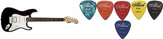 Fender Bullet-HSS-BLK 0370005506 Right Handed Squier Bullet Strat with Tremolo (Black) + Alice Guitar Plectrums Pick of Va...