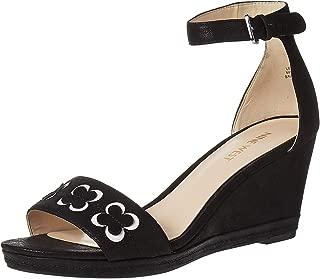 Ninewest Julian Wedge Sandals For Women - Black, 8 US