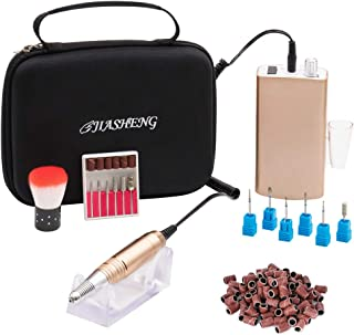 Professional Rechargeable Nail Drill Machine Portable Electric Nail File Polishing Tools with Tool Bag for Acrylic Gel Nails(Gold)