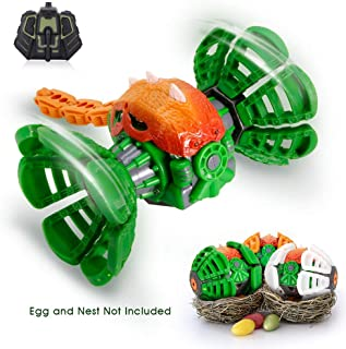 RC Monster Vehicle, Multi-Mode 360°Rotating Stunt Monster with LED Lights & Musical Sounds, Full Function with Remote Control, Boys Toys, Kids Gifts, Green
