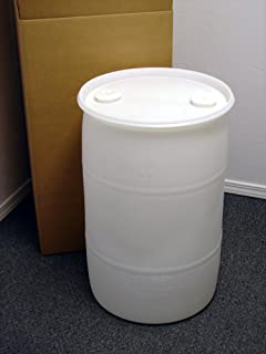 30 Gallon Drum; Emergency Water Storage Barrel, Natural - New! - Boxed! Water Container