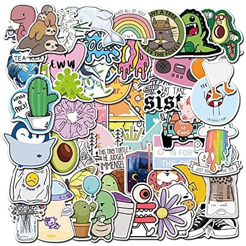 SHUYE Piccolo Animale Fresco e Carino Cartone Animato Conto Mano taccuino Bagaglio Impermeabile Decorazione Adesivo Graffiti 50 Pezzi