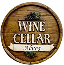 product image for Piazza Pisano Wine Barrel Personalized Wine Cellar Sign