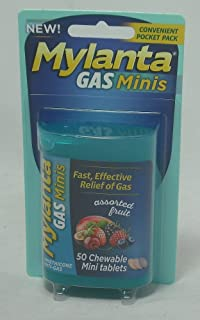 Mylanta Gas Mini Chewable Tablets, Assorted Fruit 50 Count (5 Pack)