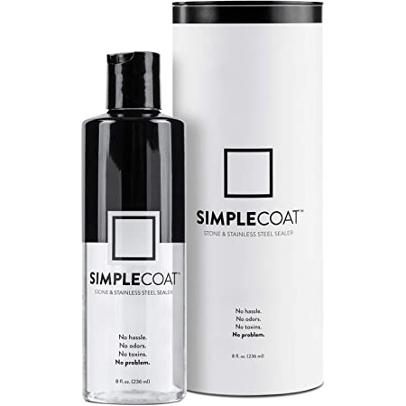 SimpleCoat Natural Stone and Stainless Steel Sealer   Countertop Sealer   8oz