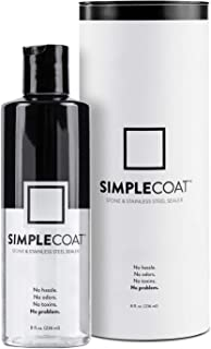 SimpleCoat Natural Stone and Stainless Steel Sealer | Simple to Use | Non-Toxic Countertop Sealer | 8oz | Polish, Seal and Protect Granite, Marble, Limestone and More