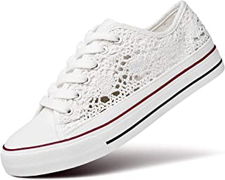 Women's Fashion Canvas Sneakers Mesh Knitted Upper Low...