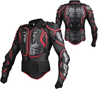 KKmoon Motorrad Schutz Jacke Pro Motocross ATV Protektorenjacke mit R/ücken Protektor Scooter MTB Enduro f/ür Damen und Herren Schwarz M