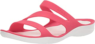 Women's Swiftwater Sandal, Lightweight and Sporty Sandals for Women, Poppy/White, 10 M US