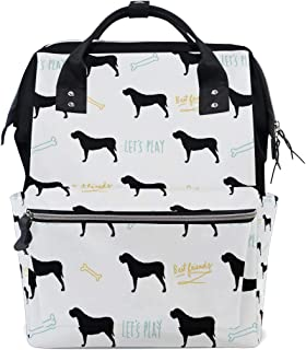 Diaper Bag English Mastiff Dog Backpack for Mom/Dad, Wide Open Multi-Function Travel Backpack Nappy Bags