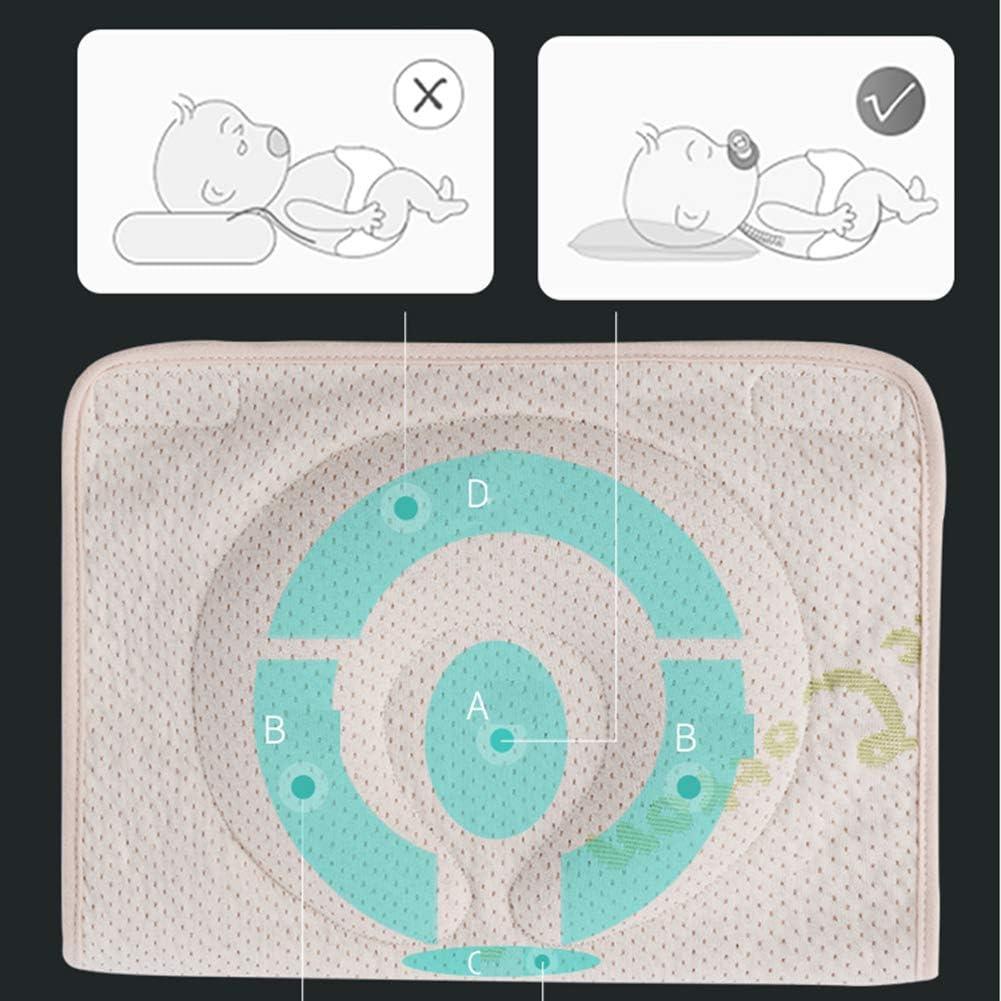 JUNBABY Oreiller Formant la tête de bébé, Coussin réglable pour Le Cou, pour Le Nouveau-né, Design Ergonomique, Prévention du Syndrome de la tête Plate-B C